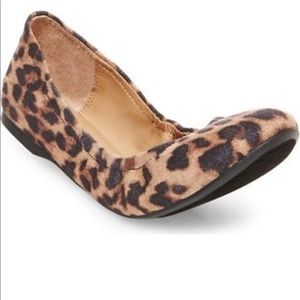 Shoes - Leopard Scrunch Ballet Flat